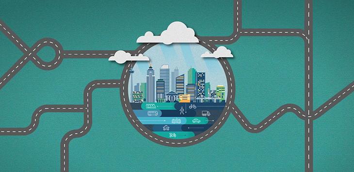 Smart city - intelligente Mobilität der Zukunft