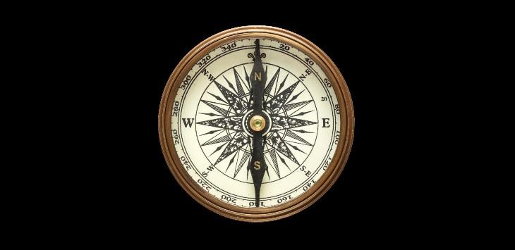 Header compass